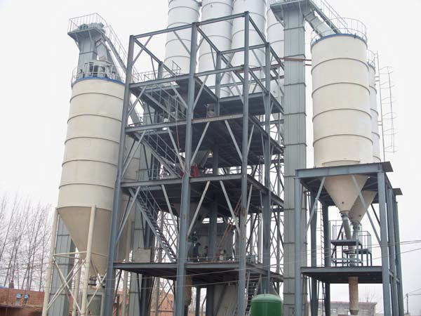 dry mortar mixing production plant
