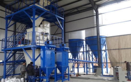 automatic dry-mixed mortar manufacturing plants