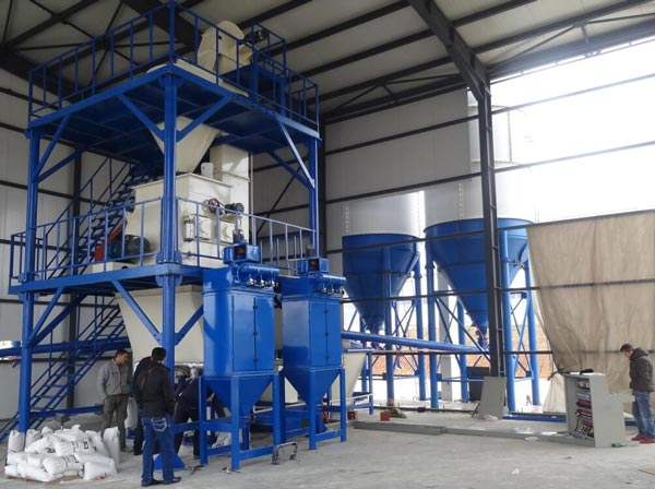 tower type dry mortar production line sale