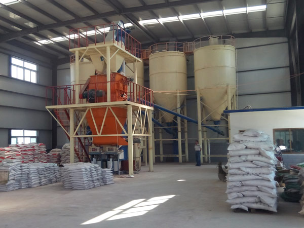 automatic dry mortar production line installation