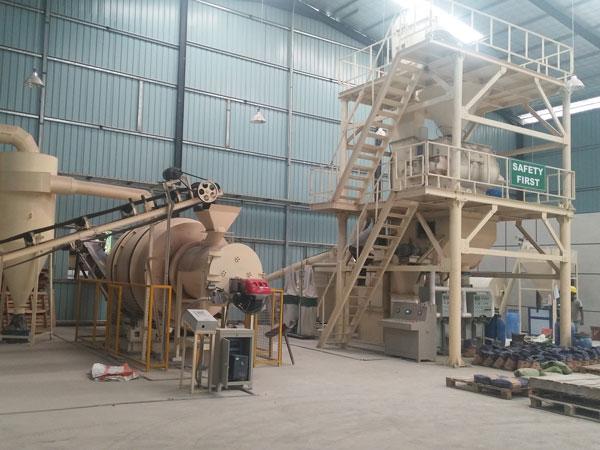 Aimix 10t dry mortar plant in Sri Lanka 1